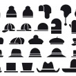 Various vector hats — Stock Vector