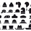 Various vector hats — Stockvectorbeeld
