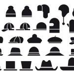varios sombreros del vector — Vector de stock