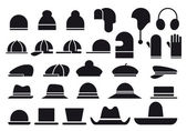 Various vector hats — Stok Vektör