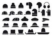 Various vector hats — Stock Vector