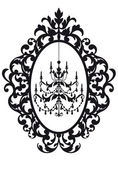 Picture frame with chandelier — Vector de stock