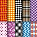 Seamless fashion patterns, vector set — Stock Vector