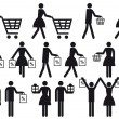 Shopping , vector icon set — Image vectorielle
