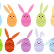 Easter egg bunnies, vector — Stock Vector