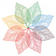 Colorful spring leaves, vector — Stock Vector