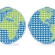 Royalty-Free Stock Imagen vectorial: Earth globe with heart pattern, vector