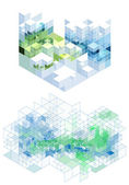 Abstract cubic background, vector — Stock Vector