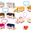 3D family avatars, vector — Stock Vector #9674279