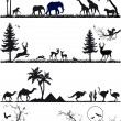 Animal background set, vector — Vector de stock #9977131
