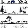 Animal background set, vector — Stock vektor #9977131