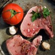 Stock Photo: Two freshly raw pork chop