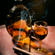 Stock Photo: Cigar And Cognac