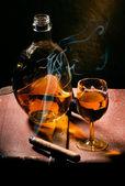 Cigar And Cognac — Stock Photo