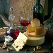 Rustic still life with cheese — Stock Photo #8969069