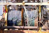 Redes de pesca em traineira. — Foto Stock