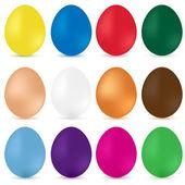 Easter eggs. Vector — Stock Vector