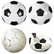 Stock Photo: Set of soccer balls