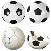 Set of soccer balls — Stock Photo