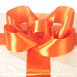 Bow on the gift box — Stock Photo