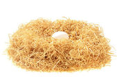 White egg in a nest — Stock Photo