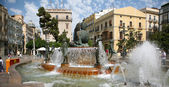 Historic fountain in Valencia — Stock Photo