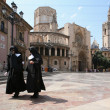 The historic cathedral in Valencia — Stock Photo