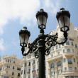 Historical lamp in Valencia — Stock Photo