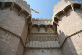 Historic walls in Valencia — Stock Photo
