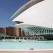 Modern building of the Palace of Arts in Valencia — Stock Photo