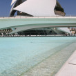 Modern architectural building in Valencia — Stock Photo