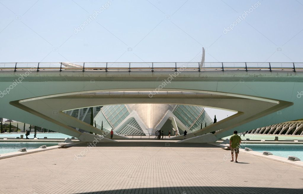 Detail of the art with modern architecture in Valencia — Stock Photo #9508236