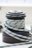 The white boat rope — Stock Photo