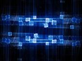 Padrão de ondas azul brilhante — Foto Stock