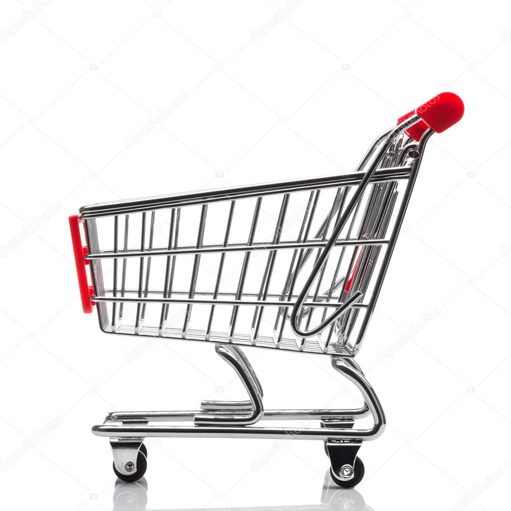 Shopping cart isolated on white background — Stock Photo #8407687
