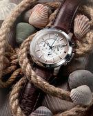 Men's classic watch — 图库照片
