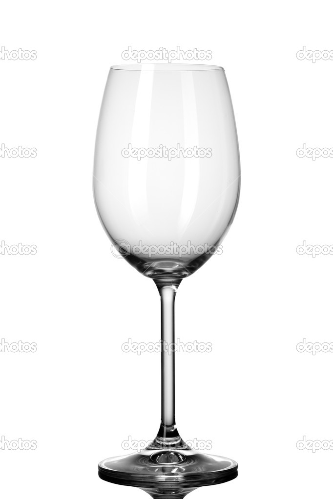 Empty wineglass isolated on white  Stock Photo #9643296