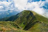 Carpathians landscape: on a mountain ridge — Stockfoto