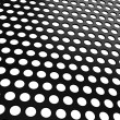 Black Aluminum grill with holes on white - Stock Photo