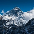 Everest Mountain Peak - the top of the world - Stock Photo