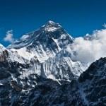 Everest Mountain Peak - the top of the world — Stock Photo