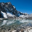 Sacred Lake and mountain near Gokyo in Himalayas — Stock Photo #8593444