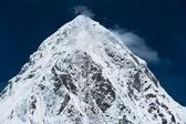 Pico de ri pumo nas montanhas do himalaia — Foto Stock