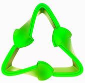 переработка и окружающая среда: зеленый символ изоляции — Стоковое фото