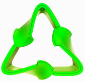 Recycling and environment: green symbol isolated — ストック写真