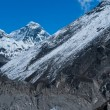 Everest or Chomolungma: highest peak in the world — Stock Photo