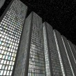 Megalopolis at night: Abstract skyscrapers — Stock Photo