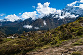 Ama Dablam and Thamserku peaks: Himalaya landscape — Foto Stock