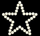 Precious Pearls star shape isolated — Stock Photo