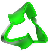 Recycling concept: green recycle symbol isolated — Stock Photo
